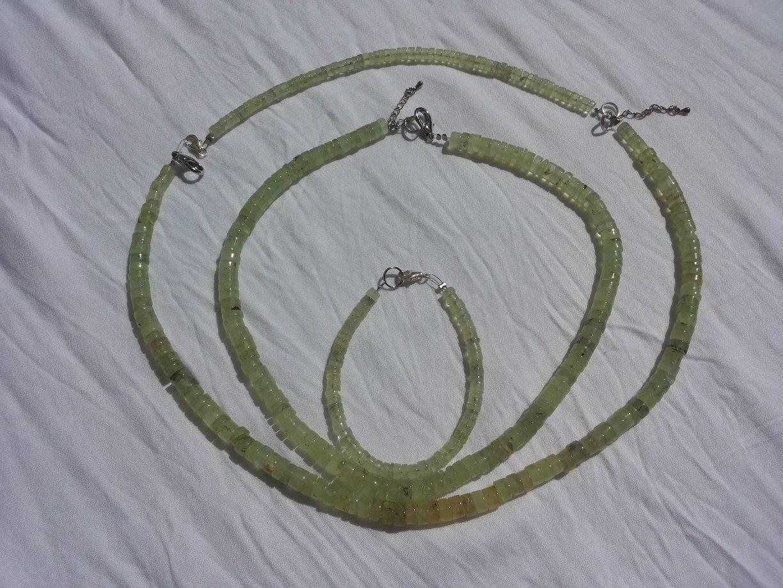 Venusblume-Lichtzentrum-Melinda-Hebenstreit-Nueziders Kristall Prehnit Kette Armband